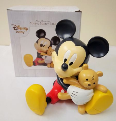 DI469 Mickey Mouse Disney Magical Beginnings Resin Moneybox