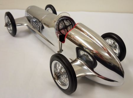 Authentic Models Silberpfeil Polished Aluminium Racing Car with Red Seats PC014R