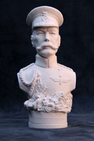 Lord Kitchener Plaster Bust 14cm by Modern Souvenirs