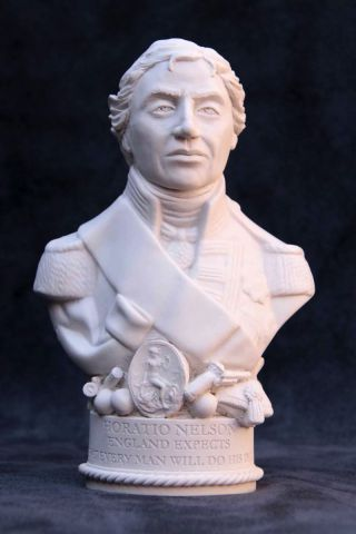 Lord Nelson Plaster Bust 12cm by Modern Souvenirs