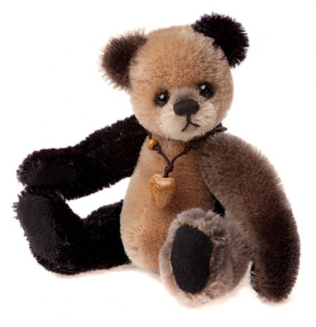 CBK635298A Loafer Mohair Teddy Bear Keyring by Charlie Bears