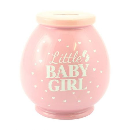 LP27851 Baby Girl Ceramic Money Pot by Lesser & Pavey Co