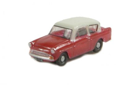 Oxford Diecast Ford Anglia 105E Maroon and Cream N105001