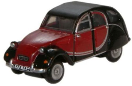 Oxford Diecast Citroen 2CV Charleston Maroon and Black NCT001