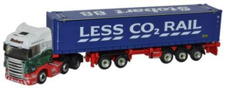 Oxford Diecast Scania Highline D-TEC Combitrailer Container Eddie Stobart NSHL01CT