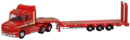 NTCAB006 Scania T Cab Semi Low Loader Sandy Kydd by Oxford Diecast