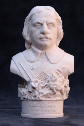 Oliver Cromwell Plaster Bust 12cm by Modern Souvenirs
