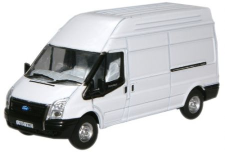 Oxford Diecast White Transit LWB High | NFT006