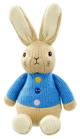 PO1540 Knitted Peter Rabbit Soft Toy by Rainbow Designs