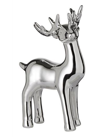 Standing Silver Reindeer Small by Shudehill Gifts 292630