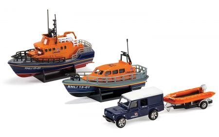 RNLI0001 RNLI Gift Set Shannon Lifeboat, Severn Lifeboat and Flood Rescue Team