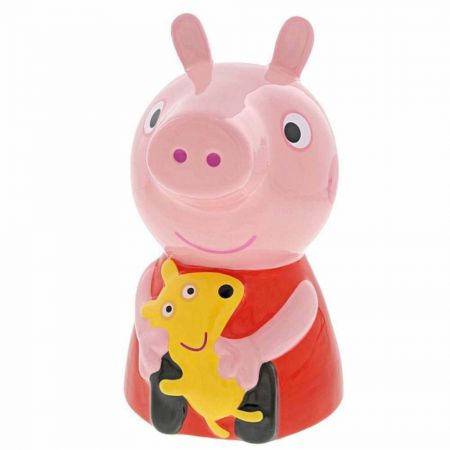 Peppa Pig Ceramic Money Bank by Enesco A29660