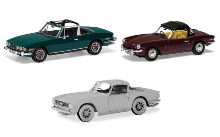 TC00004	Sporting Triumph Collection. Stag, Spitfire TR6.