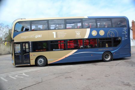UK6516 ADL Enviro 400 Stagecoach South Gold (10770 ? SN66 VYR)