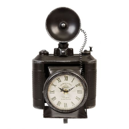 W2750 Camera Metal Case Mantel Clock