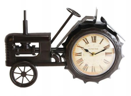 W2767 Tractor Metal Case Mantel Clock