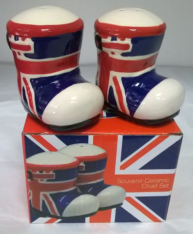 67447 Union Jack Wellington Boot Salt and Pepper Set
