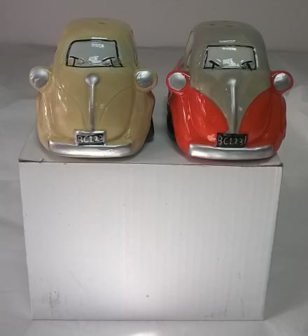 CAR 24 Bubble Car Ceramic Salt and Pepper Shakers