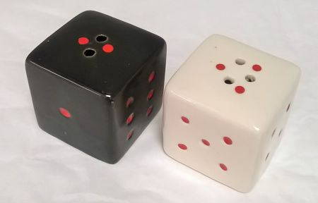 CS09411 Black and White Dice Salt and Pepper Shakers