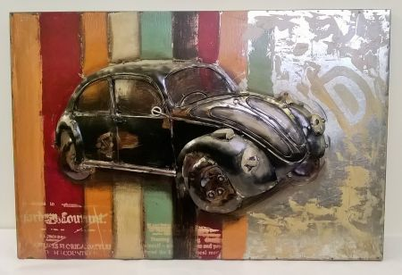 PG1387 Retro Beetle Metal Wall Art