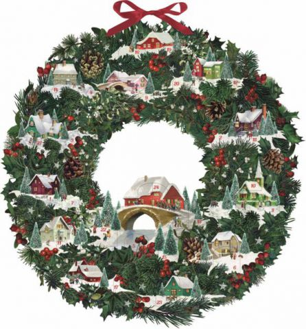 Coppenrath Christmas Wreath with Festive Houses Traditional Advent Calendar 71438