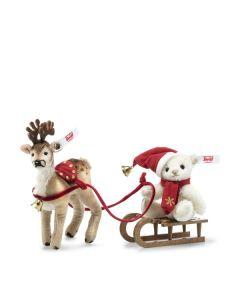 Steiff Christmas Sleigh Set 10cm 006067