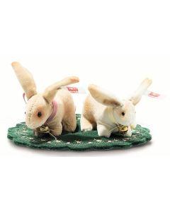 Steiff Rabbit Set Cotton Velvet 7.5cm 006128