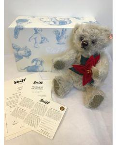 Steiff Poinsettia Mohair Teddy Bear 30cm 035463