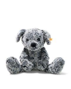 083655 Soft Cuddly Friends Taffy Dog Mottled Grey 45cm by Steiff
