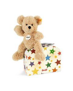 Steiff Fynn Teddy Bear In Star Suitcase 23cm 111730