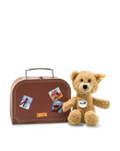 113390 Sunny Teddy Bear in Suitcase Beige 22cm by Steiff