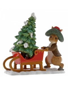 Benjamin Bunny Preparing for Christmas by Enesco A29385