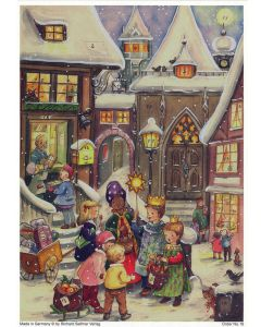 18 Carol Singers Traditional A4 Advent Calendar by Richard Sellmer