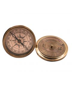 Authentic Models 40 Year Calendar-Compass, Brass CO031