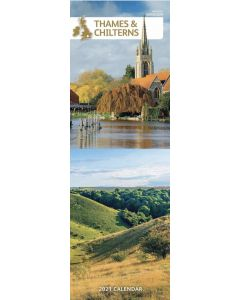 Thames and Chilterns 2021 Slim Calendar by Carousel Calendars
