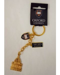 Oxford University & Radcliffe Camera Gold Charm Metal Key Ring by Elgate 73735