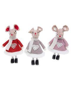 Xmas Craft Standing Mice set of 3 by Joe Davies 201551