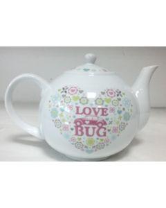 68194 Love Bug Volkswagen Beetle Ceramic Teapot