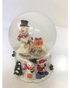 Xmas Fun Santa Snowman With Sledge Snow Globe Medium by Joe Davies 202391B