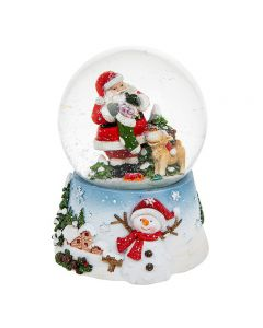 Xmas Fun Santa Musical Snow Globe Large by Shudehill Gifts 202392