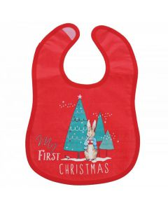 Peter Rabbit My First Christmas Bib by Enesco A29836