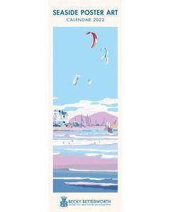 Seaside Poster Art, Becky Bettesworth Slim Calendar 2022 by Carousel Calendars 220034