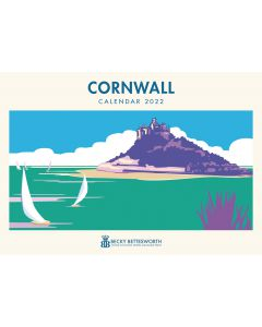 Cornwall artwork by Becky Bettesworth A4 Calendar 2022 by Otter House 220039