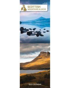 Scottish Mountains and Lochs 2022 slim Calendar 220048