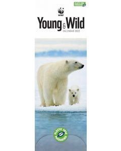 WWF, Young and Wild Slim Calendar 2022 by Carousel Calendars 220310