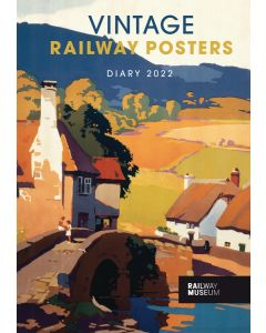 National Railway Museum, Vintage Railway Posters A5 Diary 2022 by Carousel Calendars 220621