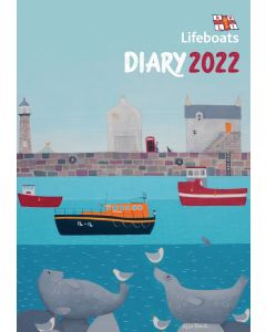 RNLI Lifeboats charity A5 Diary 2022 by Carousel Calendars 220625