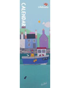 RNLI, Lifeboats Slim Calendar 2022 by Carousel Calendars 220660