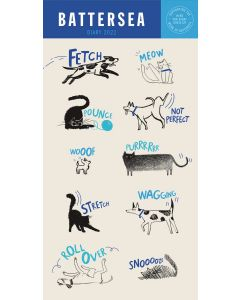 Battersea Dogs & Cats Slim Diary 2022 by Carousel Calendars 220879