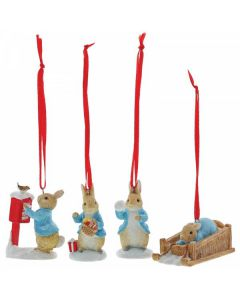 Peter Rabbit Set of 4 Hanging Ornaments by Enesco A29927